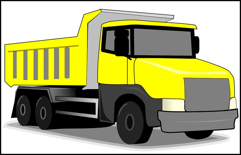 žlutý náklaďák