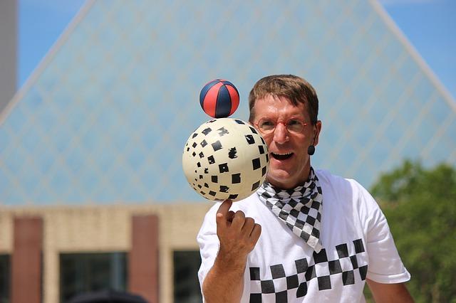 žonglování s míči