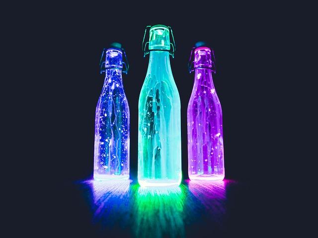 barevné lahve